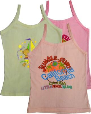 Lure Wear Vest For Girls Cotton Blend(Multicolor)