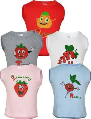 Gkidz Vest For Girls Cotton(Multicolor) at flipkart