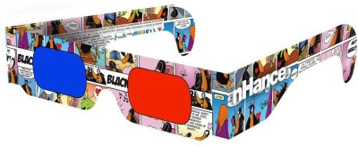 DOMO nHance RB2B Paper Anaglyph 3D Video Glasses - Pack of 4 Video Glasses(Multicolor)  available at flipkart for Rs.189