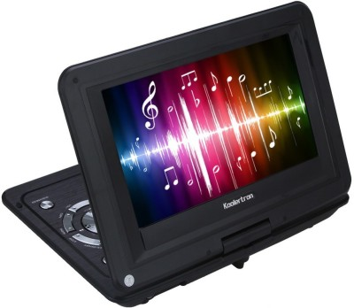 Gadget-Wagon Portable Swivel 270 dgree with USB, MMC , FM & Game 9 inch DVD Player(Black)