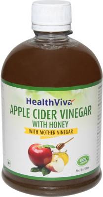 HealthViva Apple Cider Vinegar With Honey (With Mother Vinegar) Apple Cider Vinegar(500 ml, Apple Flavored)