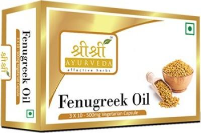 Sri Sri Ayurveda Fenugreek Oil 500mg Supplement (30 Capsules)