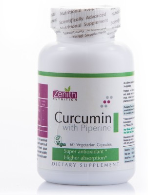 Zenith Nutrition Curcumin With Piperine Supplements (60 Capsules)