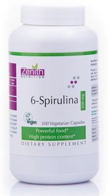 Zenith Nutrition 6 Spirulina 500mg Supplements (300 Capsules)