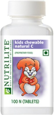 Amway Nutrilite kids chewable natural C(100 No)  available at flipkart for Rs.1365