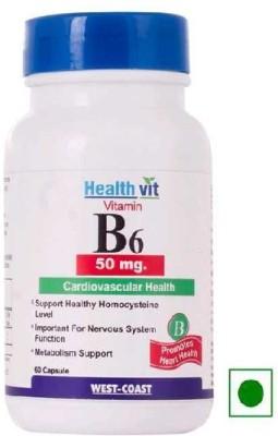Healthvit Vitamin B6 50 mg (60 Capsules)
