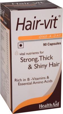 Health Aid Hair-Vit Supplements (90 Capsules)
