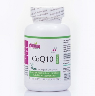 Zenith Nutrition CoQ10 100mg Supplements (60 Capsules)