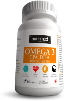 Nutrimed Omega 3 EPA, DHA Fish Oil 1000mg Supplement (60 Capsules)