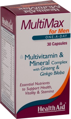 Health Aid Multimax Vitamin And Mineral For Men Supplements (30 Capsules)