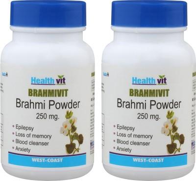 Healthvit Bramhivit Bramhi Powder 250mg (60 Capsules, Pack of 2)