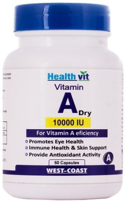 Healthvit Vitamin A Dry 10000 Iu Supplements (60 Capsules)