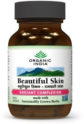 Organic India Beautiful Skin Supplements (60 Capsules)