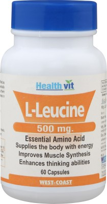 HealthVit L-Leucine 500mg Essential Amino Acid 60 Capsules(60 No)  available at flipkart for Rs.840