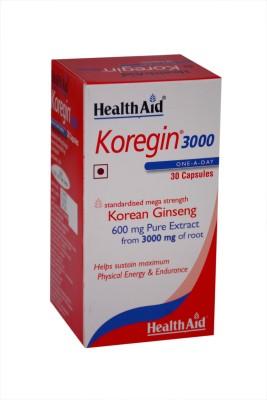 HealthAid Koregin 3000 (Korean Ginseng 600mg)(30 No) Flipkart