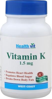 Healthvit Vitamin K 1.5 mg (60 Capsules)