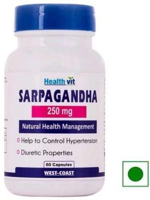 Healthvit Sarpagandha 250mg Supplements (60 Capsules)