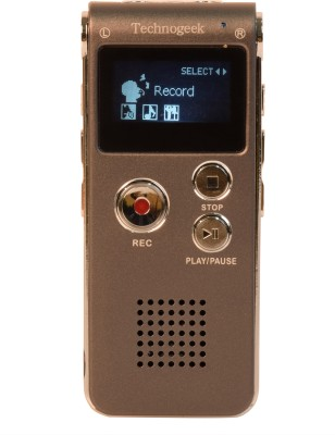 Technogeek 601 8  GB Voice Recorder 1 inch Display