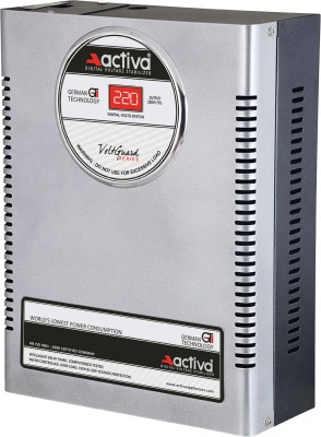 ACTIVA 4 KVA /140-300V DIGITAL AC VOLTAGE STABILIZER(SILVER-BLACK)