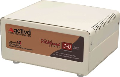ACTIVA 0.5 KVA /90-300V DIGITAL LED/LCD/TV/FRIDGE VOLTAGE STABILIZER(IVORY)