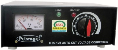Pulstron PTI-025 0.25 Kva Television, LED, LCD Voltage Stabilizer(Black)  available at flipkart for Rs.1099