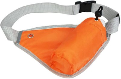 Italish Sports Belt With Bottle Holder Portable For Outdoor Hiking Running Jogging Waist bag(Orange)  available at flipkart for Rs.299