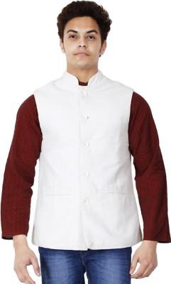 Dhrohar White Cotton Solid Men