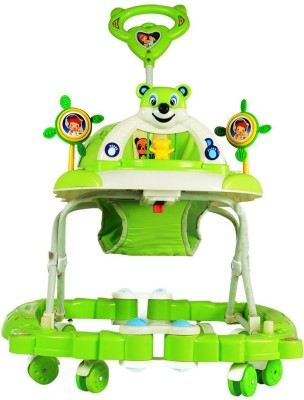Panda Creation Walker & Rocker With Parent Rod(Green)