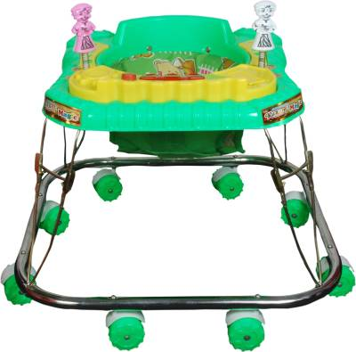 Kusum Enterprises Square Baby Walker (Green) (Green)