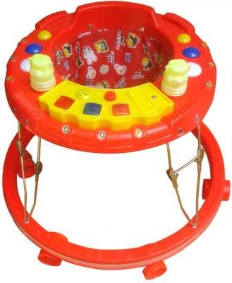 Kusum Enterprises Red Musical Rattle Baby Walker