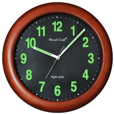 Wood Craft Analog Wall Clock(Brown, With Glass)  available at flipkart for Rs.1669