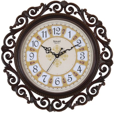 Steven quartz Analog 45 cm X 45 cm Wall Clock(Multicolor, With Glass) at flipkart