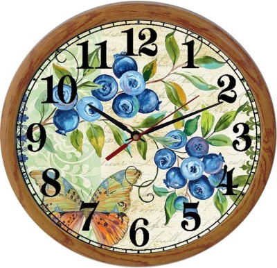 Prateek Retail Analog Wall Clock(Metallic, With Glass)