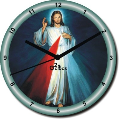 2 O'Clock Analog 5 cm X 31 cm Wall Clock(Multicolor, Without Glass)