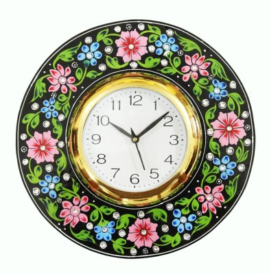 Craft Junction Analog 30 cm X 30 cm Wall Clock(Multicolor, With Glass) at flipkart