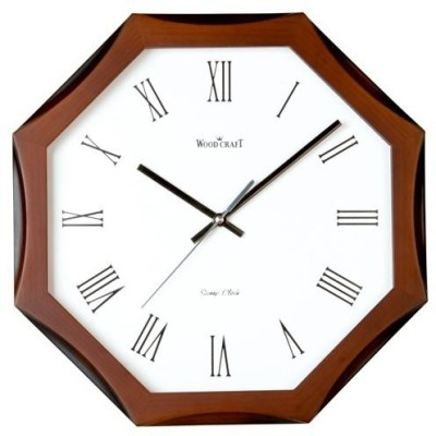 Wood Craft Analog Wall Clock(Dark Browm, With Glass)  available at flipkart for Rs.1795