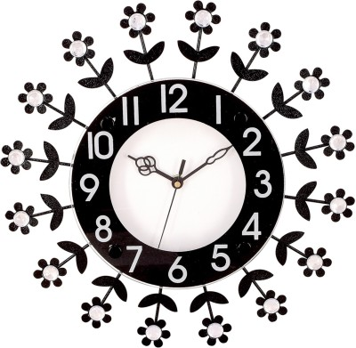 Prateek Exports Analog Wall Clock(Black, With Glass)