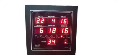 7 OFF on Ajanta Digital Wall ClockMetallic With Glass on