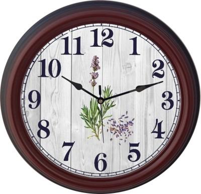 Prateek Retail Analog Wall Clock(Brown, With Glass)