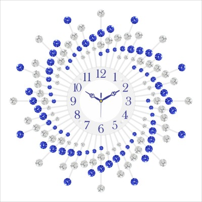 Urban Vibe Analog Wall Clock(Blue, With Glass) at flipkart