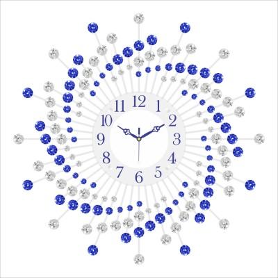 Urban Vibe Analog Wall Clock(Blue, With Glass) at flipkart