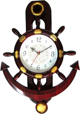 Abhisha Analog 14 cm Dia Wall Clock(Wooden, With Glass)  available at flipkart for Rs.299
