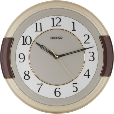 Seiko Analog Wall Clock(Ivory, With Glass)  available at flipkart for Rs.2550