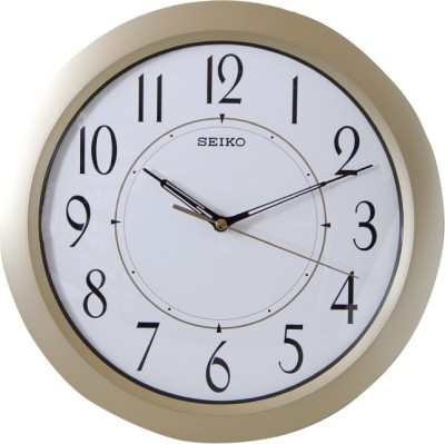 Seiko Analog Wall Clock(Ivory, With Glass)  available at flipkart for Rs.2500