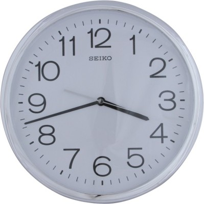 Seiko Analog Wall Clock(White, With Glass)  available at flipkart for Rs.2600