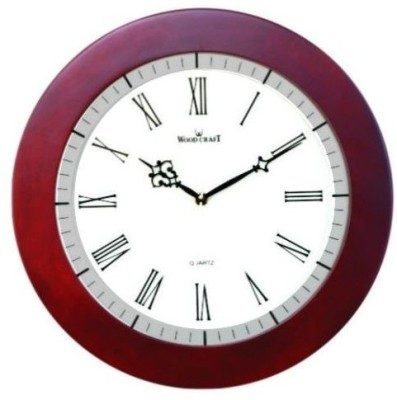 Wood Craft Analog Wall Clock(Brown, With Glass)  available at flipkart for Rs.1695