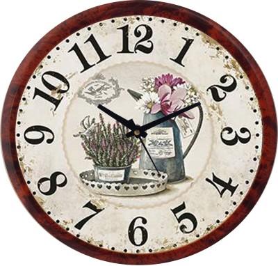 Prateek Retail Analog Wall Clock(Red, With Glass)