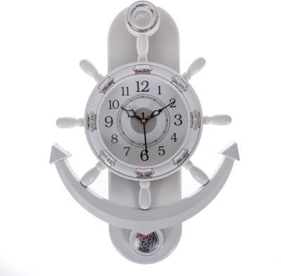 Smile2u Retailers Analog Wall Clock(White, With Glass) at flipkart