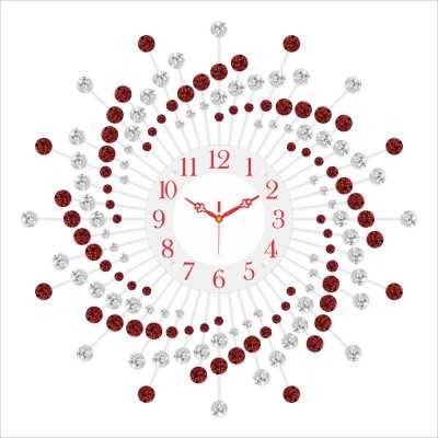 Urban Vibe Analog Wall Clock(Metallic, With Glass) at flipkart