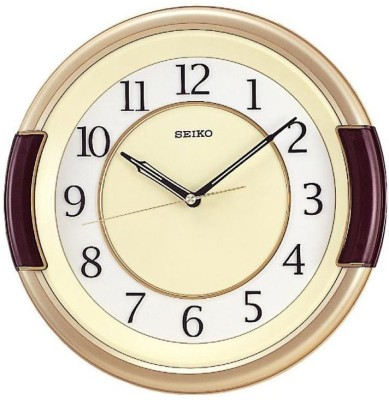 Seiko Analog Wall Clock(Multicolor, With Glass)  available at flipkart for Rs.2600
